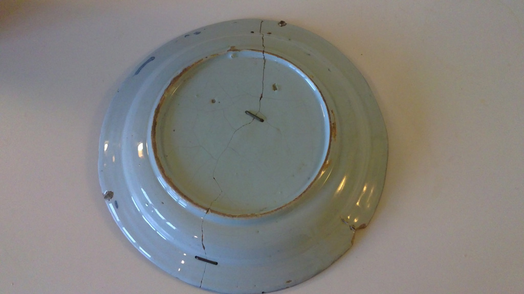 Delft plate King William III – pre treatment rivets