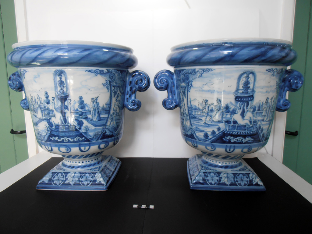 Delft Urn A & B – both restored